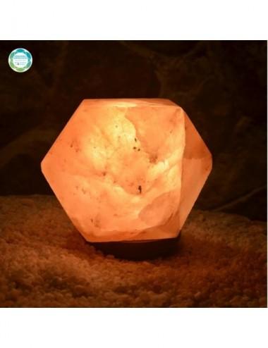 Lampa solna rzeźbiona - sól...