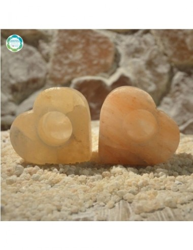 Świecznik solny rzeźbiony -...